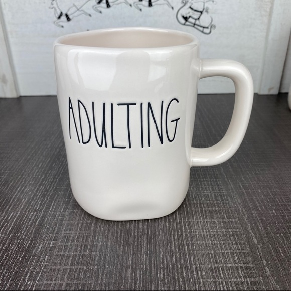 Rae Dunn ADULTING mug. New.